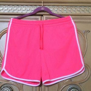 Athletic works hot Pink lightweight shorts nwot 8